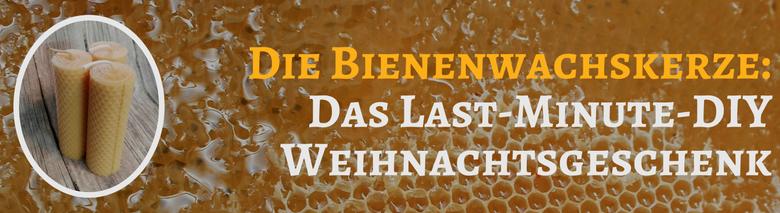 Bienenwachskerzen DIY