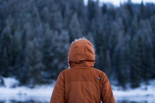 Mensch im Winter
