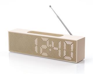 Lexon Titanium Radio-Wecker (Fr), Goldfarben Preisvergleich