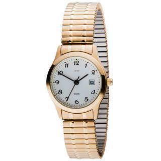 BELLEZAR Damen Armbanduhr Quarz Analog Edelstahl vergoldet Flexband Datum Preisvergleich