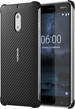 Nokia Carbon Fibre Design Case CC-802 for Nokia 6 Onyx Black Preisvergleich