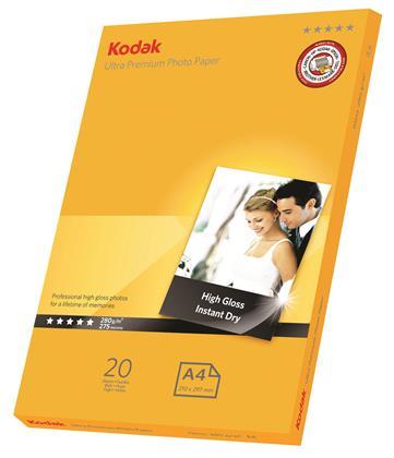 Kodak Ultra Premium Fotopapier für Tintenstrahldrucker, Glanzfinish, 10,7 mil Dicke, 25 Bl Preisvergleich