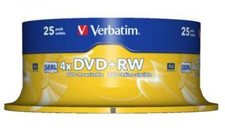Verbatim DVD+RW 4.7GB 4X SCRATCH Preisvergleich