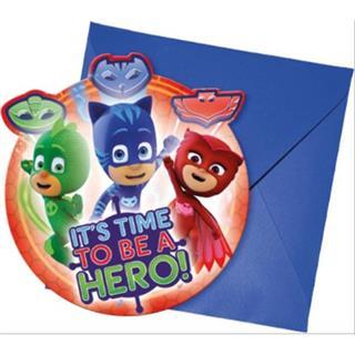 PJ Mask Einladungskarten inkl. Umschläge 6 Stück Preisvergleich
