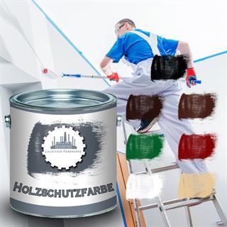 Lausitzer Farbwerke Holzschutzfarbe UV-Beständig Holz-Schutz-lack gegen Pilze (Inhalt: 10  Preisvergleich