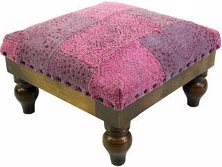 Arabisch- Marokkanischer Kelim Boden Hocker, Orientalischer Sitz mit Holzgestell, Runde Be Preisvergleich
