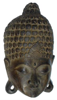 Buddha Maske, Wandschmuck, Ethno Wanddekoration aus Balsaholz, Größe: 65 cm Preisvergleich