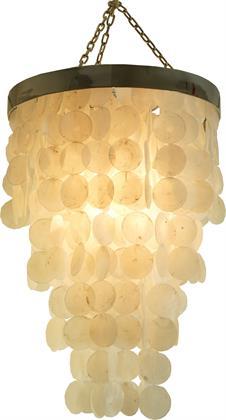 Deckenlampe / Deckenleuchte, Muschelleuchte aus Hunderten Capiz, Perlmutt Plättchen - Mode Preisvergleich