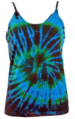 Farbenfrohes Goa-Batik Top, Batiktop - Türkis, Damen, Blau, Baumwolle, Tops & T-Shirts Preisvergleich