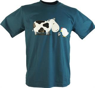 Fun T-Shirt `Nanu!`, Herren, Blau, Baumwolle, Größe: M Preisvergleich