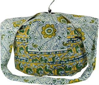 Sadhu Bag, Umhängetasche, Hippie Tasche, Unisex - Erwachsene, Weiß, Baumwolle, Bunter Stof Preisvergleich