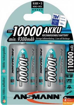 Akkuzelle Mono 10000mAh 1,2V NiMH ANSMANN, 2 Stück Preisvergleich
