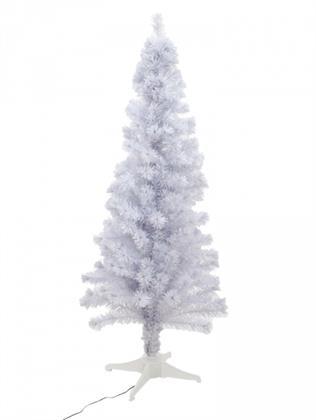 EUROPALMS Tannenbaum Fiber LED, 180 cm, weiß (Kunstpflanze Preisvergleich