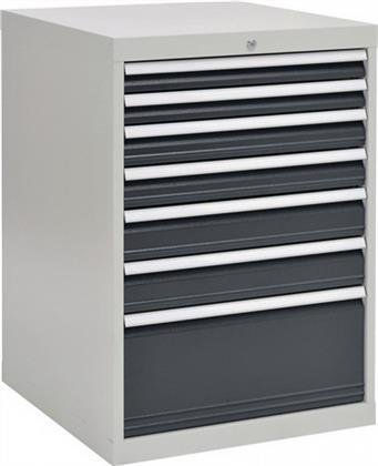 Schubladenschrank H1019xB705xT736 grau/anthr. 2x75 2x100 2x125 1x300 Preisvergleich