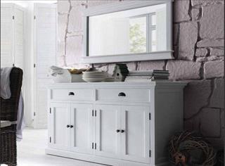 Dielenspiegel Wandspiegel Landhausmöbel weiß von Novasolo Halifax Preisvergleich