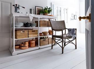 Küchenregal Regal mit 6 Teakholzboxen Landhausmöbel Halifax im novasolo-moebel.de Shop Preisvergleich