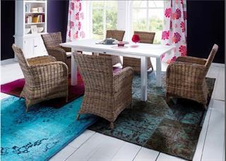 Rattanstuhl Armlehnstuhl Landhausmöbel von Novasolo Halifax Preisvergleich