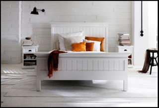 Stabiles Bett 180 x 200 cm Bettgestell NovaSolo Landhausmoebel weiß Halifax-Copy Preisvergleich