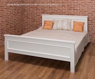 Stabiles Bettgestell Bett 200x200 mit Lattenrost Landhausmöbel Halifax aus 70 Farben wähle Preisvergleich