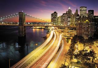 Vliestapete Fototapete National Geographic NYC LIGHTS 368x254cm New York Highway Preisvergleich
