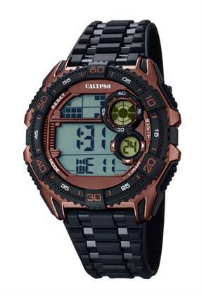 Calypso Herren Digitaluhr schwarz/braun K5670/3 Preisvergleich