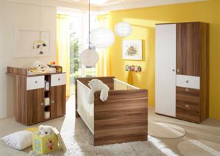 Babyzimmer Komplett Lilli 3 Teilig Walnuss Weiss 3203516