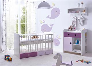 Babyzimmer Komplett Set Linus 3 Teilig In Lila