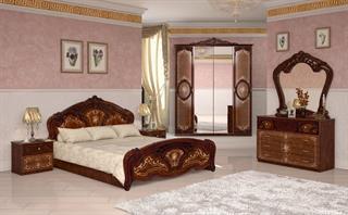 barock schlafzimmer-set julianna 4-teilig in walnuss günstig ...