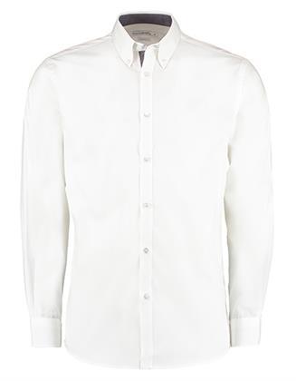 Damen Bluse Hemd  Kustom Kit Contrast Premium Oxford Shirt Button Down Hemden & Blusen (Ox Preisvergleich