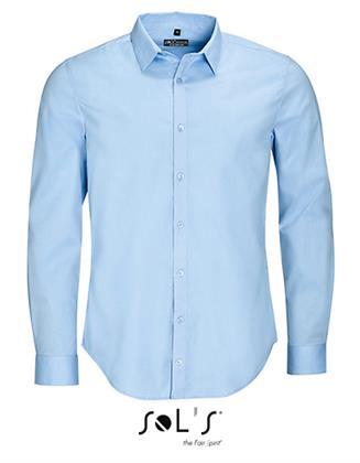 Herrenhemd SOL´S Men`s Long Sleeve Stretch Shirt Blake Light Blue XXL Preisvergleich