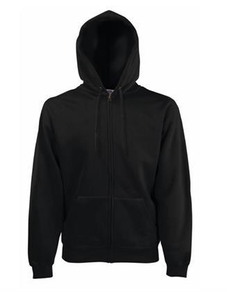 Sweatjacke Zoodie  Fruit of the Loom Classic Hooded Sweat Jacket  Black   M Preisvergleich