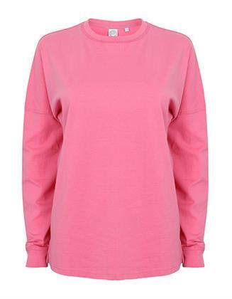 Sweatshirt Pullover Arbeitspullover SF Men Unisex Drop Shoulder Slogan Top  Bright Pink XL Preisvergleich