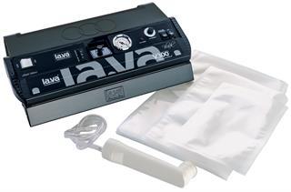 Lava LV300 Black Vakuumierer + Druckregulierer + Vakuumglocke + Startset + Absaugv + Etike Preisvergleich