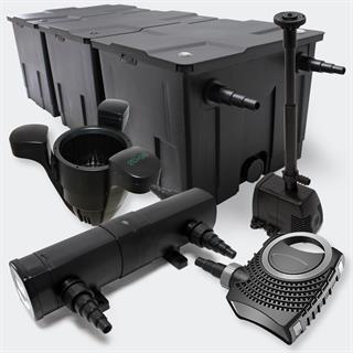 Set Teichfilter 90000l SuperEco 80W Pumpe 24W UV Springbrunnen-Skimmer Preisvergleich